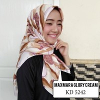 HIJAB MAXMARA GLORY CREAM Segi 4 KD5242