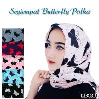 Hijab Segiempat Butterfly Polkadot KD4961