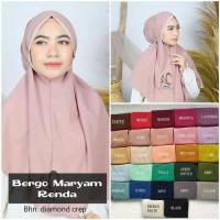 Kerudung Bergo Maryam Renda KD5377